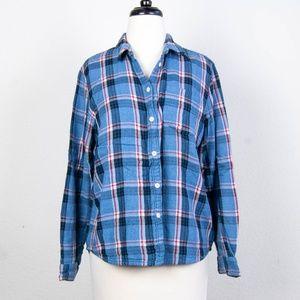 MADEWELL Plaid Flannel Button Down Shirt